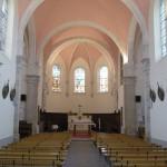 vue intérieur église